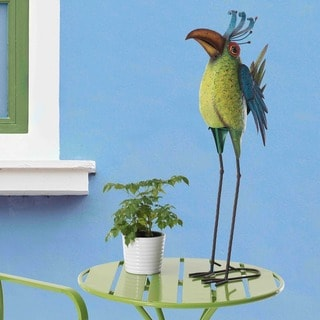 Sunjoy Whimsical Hand-painted Metal Bird