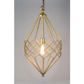 Gold Wire Pendant Small