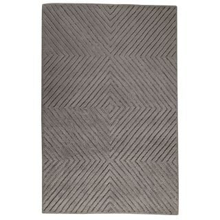 Hand-Tufted Indo Union Square Grey Rug (7'6 x 9'6)