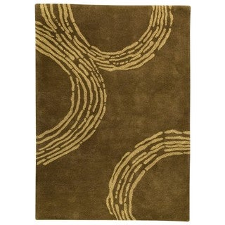 M.A.Trading Hand-Tufted Indo Pamplona Olive Green Rug (5'6 x 7'10)