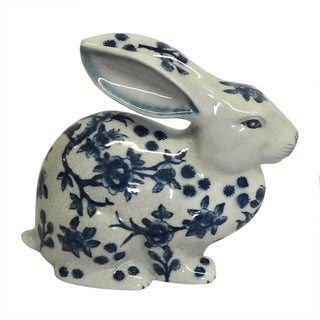 Blue and White Porcelain Bunny