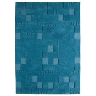 Hand-Tufted Indo Miami Turqouise Rug (6'6 x 9'9)