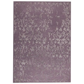 M.A.Trading Hand-Tufted Indo Santoor Purple Rug (8'3 x 11'6)
