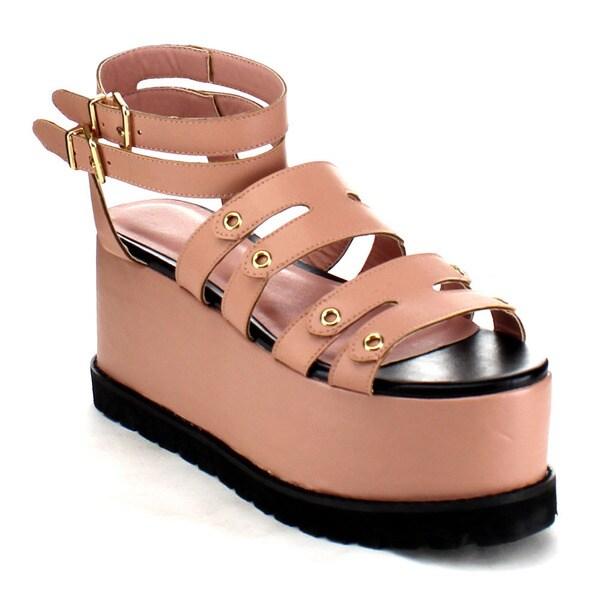 Platform Ankle Strap Flatform Sandals