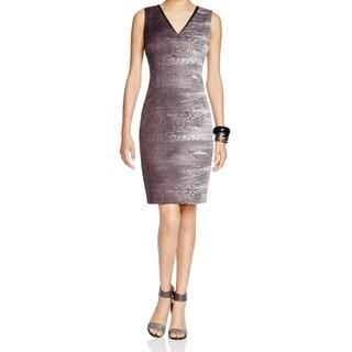 T Tahari Carly Gray Jacquard Dress