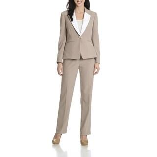 Tahari Arthur S. Levine Women's Two-tone 2-piece Pant Suit