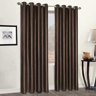 Luxury Collection Faux Leather Blackout Single Curtain Panel