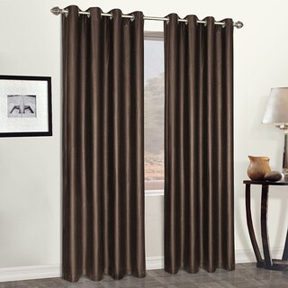 Leather Luxury Grommet Top Faux Heavyweight Curtain Panel