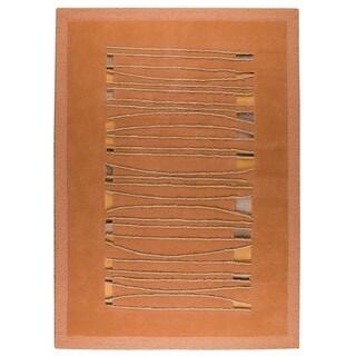 Hand-Tufted Indo Jamaica Orange Rug (6'6 x 9'9)