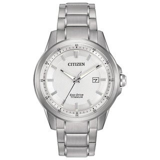 Citizen Men's AW1490-50A TI + IP White Dial Silvertone Titanium Watch