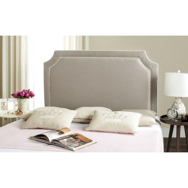 Safavieh Dane Grey White Piping Upholstered Headboard Full Free