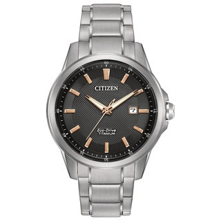 Citizen Men's AW1490-50E TI + IP Black Dial Silvertone Titanium Watch