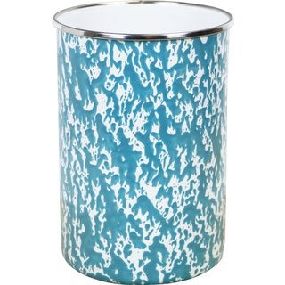 Reston Lloyd Calypso Basics Turquoise Marble Enamel Utensil Holder