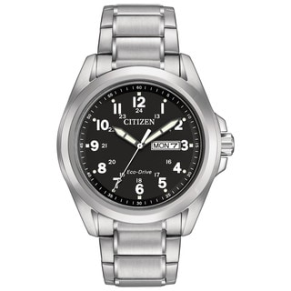 Citizen Men's AW0050-82E Sport Black Dial Silvertone Stainless Steel Watch