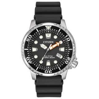 Citizen Men's BN0150-28E ISO-compliant Promaster Diver Black Dial Polyurethane and Stainless Steel Watch
