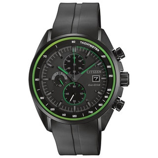 Citizen Men's CA0595-11E Drive - HTM Collection Black and Green Stainless Steel and Polyurethane Watch