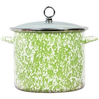 Reston Lloyd Calypso Basics Lime 8-quart Marble Stock Pot with Glass Lid