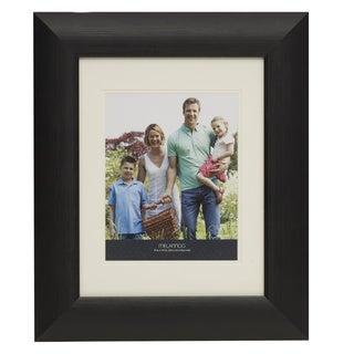 "Melannco Black Grain Plastic Picture Frame (8""x10"")"