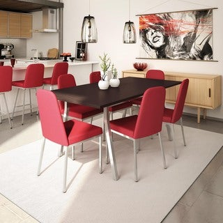 Amisco Spoon Metal Chairs and Annex Extendable Table, DIning Set