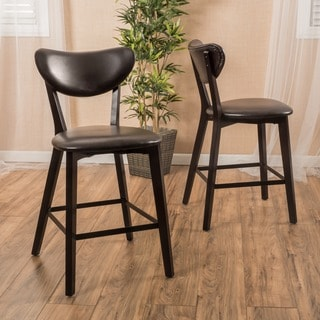Christopher Knight Home Ferra Bonded Leather Counter Stool (Set of 2)