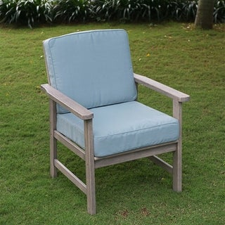Cambridge Casual West Lake Lounge Chair with Blue Seat and Back Cushion (Set of 2)