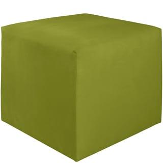 Skyline Furniture Kids Cube Ottoman in Premier Kiwi