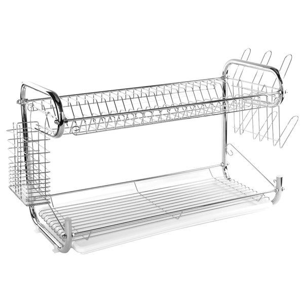 Two Tier Stainless Steel Dish Drying Rack (22 inches) 17881590