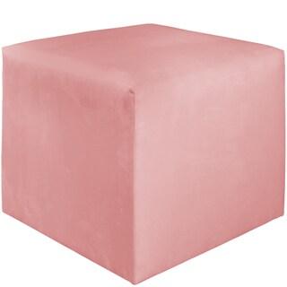 Skyline Furniture Kids Cube Ottoman in Premier Light Pink