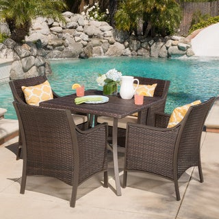 Christopher Knight Home Riga Outdoor 5-piece Aluminum Dining Set with Cushions
