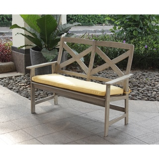 Cambridge Casual West Lake 4-foot Bench with Yellow Seat Pad