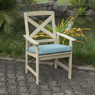 Cambridge Casual West Lake Spruce Blue Padded Dining Chair (Set of 2)