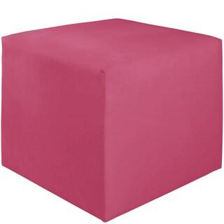 Skyline Furniture Kids Cube Ottoman in Premier Hot Pink