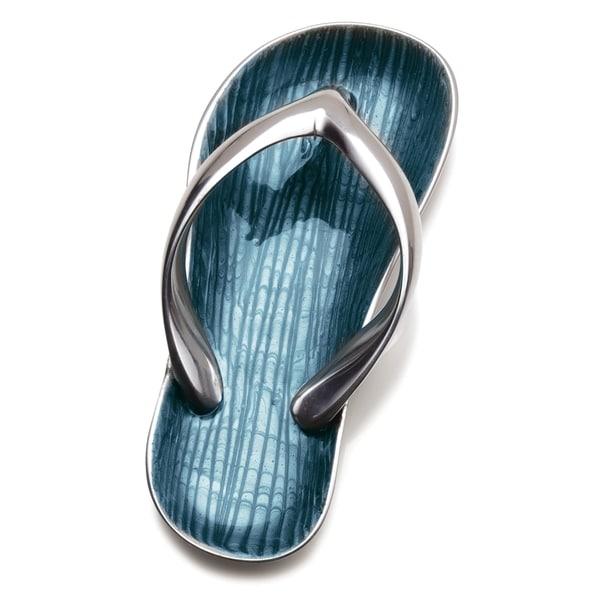 Mikasa Celebrations Aqua Aluminum Sandal Decorative Dish
