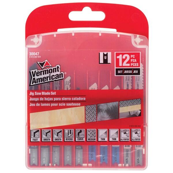 Vermont American 30047 12 Piece Jigsaw Blade Set