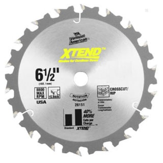 "Vermont American 26152 6-1/2"" 20T XTEND Carbide Circular Saw Blade"