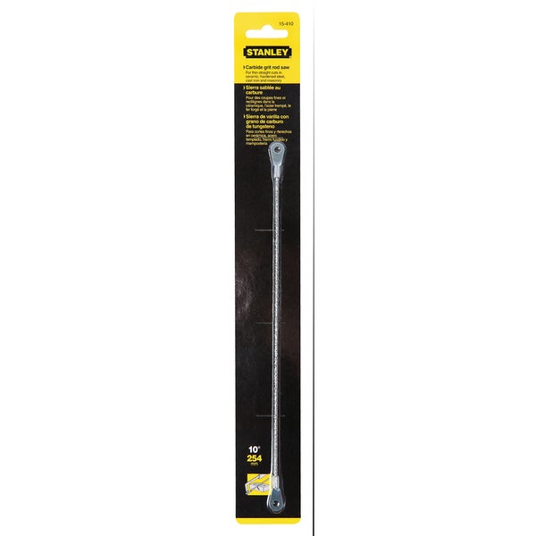 """Stanley Hand Tools 15-410 10"""" Carbide Grit Rod Saw Blade"""