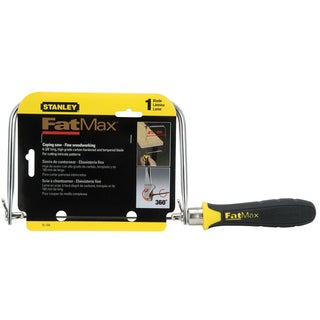 """Stanley Hand Tools 15-104 4-3/4"""" FatMax Coping Saw"""
