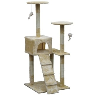 Homessity 51-inch Lightweight Economical Cat Condo and Tree Furniture