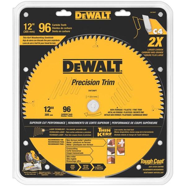"""DeWalt DW7296PT 12"""" 96 Tpi Trim Saw Blade"""
