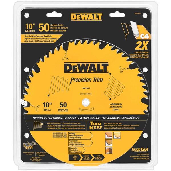 """DeWalt DW7150PT 10"""" 50 Tpi Trim Saw Blade"""