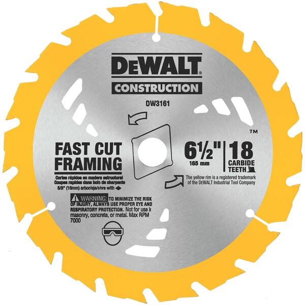 """Dewalt DW3161 6-1/2"""" Fast Cutting Circular Saw Blade"""