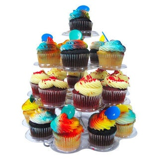 4 Tier Clear Plastic Dessert / Cupcake Stand