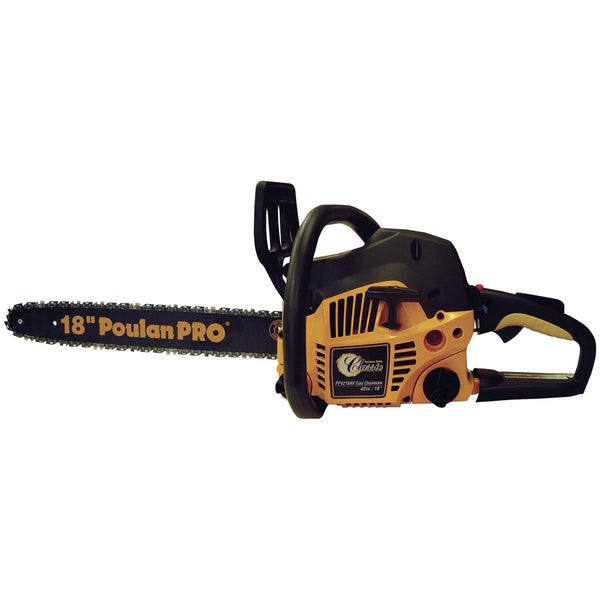 "Poulan Pro 967185102 18"" 42cc 2 Cycle Chainsaw With Case"