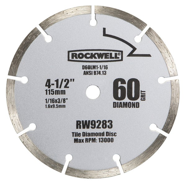 "Rockwell RW9283 4-1/2"" Segmented Diamond Saw Blade"