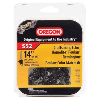 "Oregon S52 14"" Semi Chisel Cutting Chain"