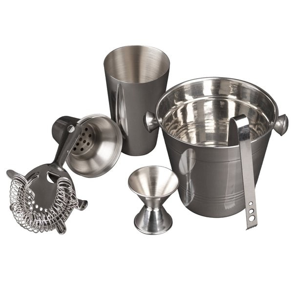 5 Piece Cocktail Set and Bar Accessories