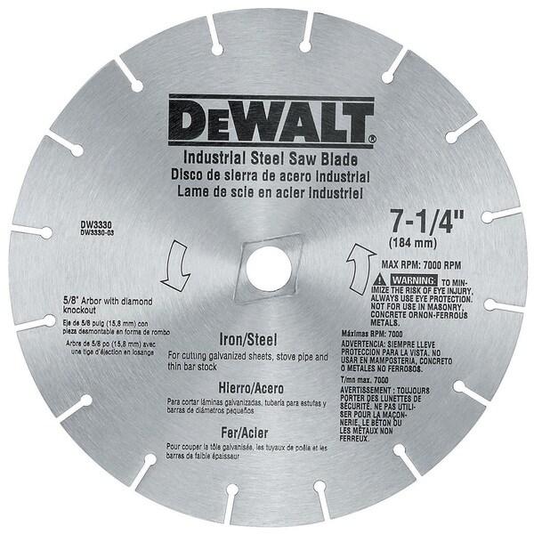 """Dewalt DW3330 7-1/4"""" Iron & Steel Cutting Circular Saw Blade"""
