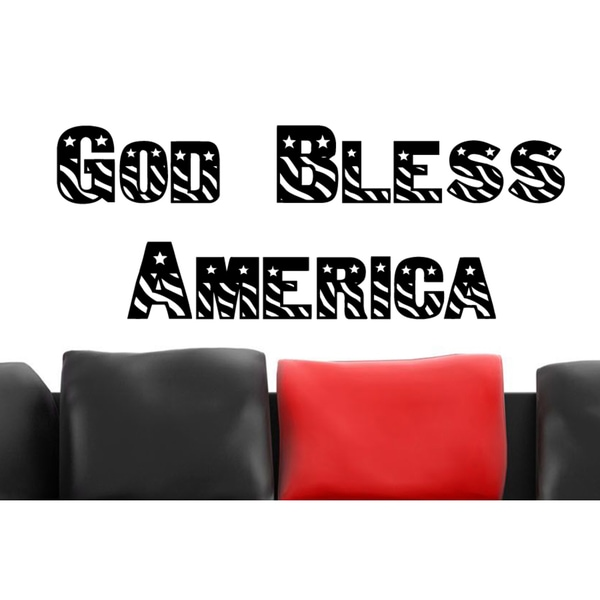God Bless America Wall Art Sticker Decal