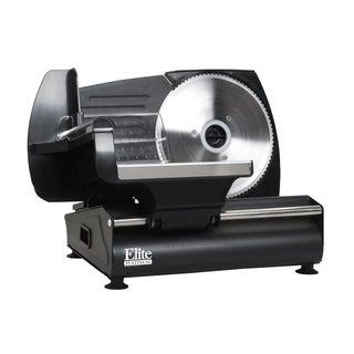 MaxiMatic Elite Gourmet Black Die-Cast Aluminum Electric Food Slicer (130 watt)