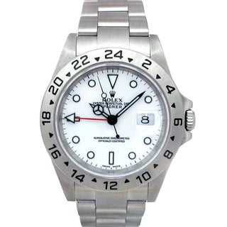 Pre-owned Rolex Men's Stainless Steel Explorer II Watch